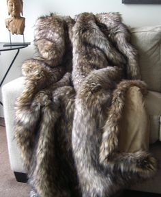 Arctic fur throw