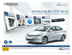 The new ¬generation Hyundai Verna can receive vital cosmetic updates, and lookwise more up¬market and premium one.For more details visit http://goo.gl/Trkcfo