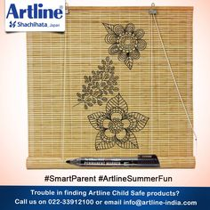 #SmartParent If you don't have an AC or a #air #cooler at home then consider using wicker #window shades to keep you and your little one cool this #summer.  You could also use Artline Permanent #Markers to #doodle on your dull #brown #shades.