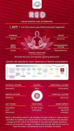 Root Chakra Healing, Sacral Chakra, Self Healing, Root Chakra Meditation, Red Chakra, Chakra Colors, Aura Colors Meaning, Chakra Locations, Chakra Meanings
