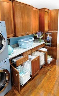 Secretly maximize laundry and garbage storage