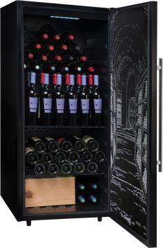 Freistehender Weinkühlschrank Dieser Climadiff PCLP160 Mehrtemperatur Kühlschrank mit einer maximalen Kapazität (Bordeaux-Flaschen) von 160 Flaschen ist mit gebrauter Kälte ausgestattet. Sie ist mit 2 Fachböden und 1 festen... Caves, Conservation, Bordeaux, Wine Cellar, Wine Rack, Liquor Cabinet, Storage, Furniture, Home Decor
