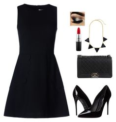 """""""Untitled #14"""" by gety-ahtisham-khan on Polyvore featuring RED Valentino, Chanel, Dolce&Gabbana and MAC Cosmetics"""