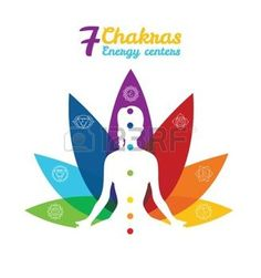 chakra: Vector illustration of Color chakras with woman