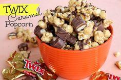 Twix Caramel Popcorn on SixSistersStuff.com- this stuff is addicting!
