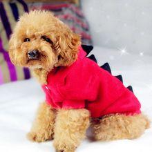 Pet Filhote de Cachorro Do Gato Do Cão Dinossauro Vestir Roupas Casaco Com Capuz Vestuário Jumpsuit Pijama alishoppbrasil