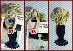 Little Mermaid Bookmark - pattern at http://www.etsy.com/listing/52296351/mermaid-crochet-bookmark-pattern-pdf