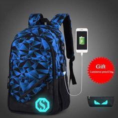 f3aa975f12 Luminous USB Charge Laptop Backpack