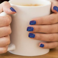 Shades of Blue Minx Nail Wraps - light gifts template style unique special diy