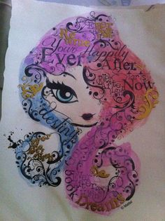 Painted ever after high logo