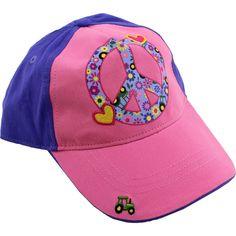 John Deere Girls Purple Peace Baseball Cap Hat FGC276E  S/M(4-8) L/XL(10-14) #JohnDeere #BaseballCap
