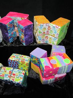 Fabric Magic Folding Cube Pattern The Magical Baby Toy by JAMPOT1, $8.00