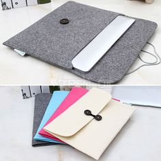 wool felt laptop envelope sleeve case notebook bag cover pouch for macbook #ipad from $3.89