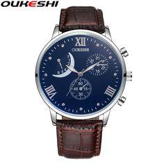 OUKESHI Brand Luxury Men Business Watch Male Unique Design Waterproof Quartz Watches Relogio Masculino Male Clock Reloj Hombre