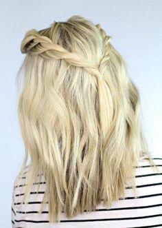 cabello media melena con trenzas