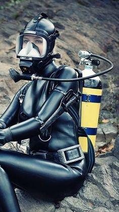 Women's Diving, Diving Suit, Scuba Certification, Rubber Dress, Scuba Girl, Womens Wetsuit, Heavy Rubber, Diving Equipment, Surfs