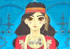 Tunisian style #makeup #makeuptattoo #drawings #Tunisia