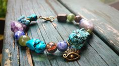 Third Eye Gemstone Bracelet by TheEarthBelow on Etsy