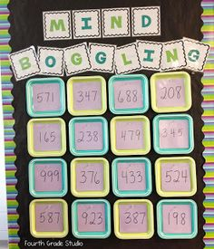 Today's blog post shows my latest bulletin board and the resource I created for my fast finishers and top math kids! I am super excited for them to try these higher level problem solving activities this week!