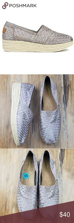 e30e9a74b4 NWOB Joy   Mario Hemp Espadrille Wedge Slip On s