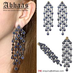 #Designer #Pave #Diamond #Blue #Sapphire #Chandelier #Earrings #with #Gold #and #Silver #Gemstone #Jewelry #Womensjewelry #Beautiful #Love #Iloveyou #Bridal #Jewelry #Jewelryforsale #Musthave #Style #Handmadejewelry #Jewels #Traditional #Jewelry #Latest #Jewelry #Abhaasjewelry  For more details contact: Email :- enquiry@abhaas.com