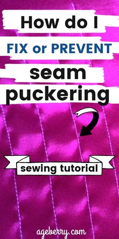 This sewing course has fashion sewing tips that will help you to solve the problem of seam puckering in your sewing projects. You will find out the reasons for seam puckering and step by step solutions and sewing tips for each of them. You will learn what is seam puckering, how to fix it and how to avoid it. There are 8 video lessons that will help you to find the best ways to stop seam puckering for good.