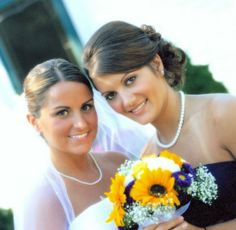 gorgeous Bride and her maid of honor~