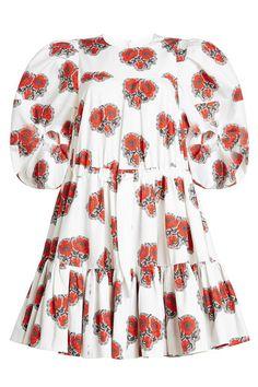 New Alexander McQueen Printed Cotton Dress fashion online. [$1751]?@shop.sladress<<