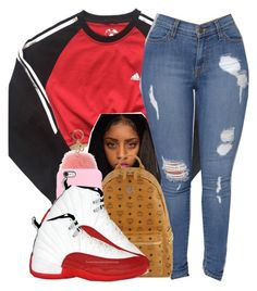 2cdf4c7a7 by baaaditori ❤ liked on Polyvore featuring adidas, MCM and MICHAEL Michael  Kors