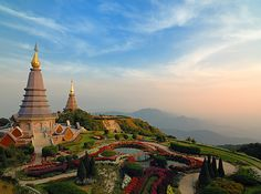 The Doi Inthanon Pagodas in Chiang Mai, Thailand. | 15 Ultimate Places For Your Dream Getaway #travel