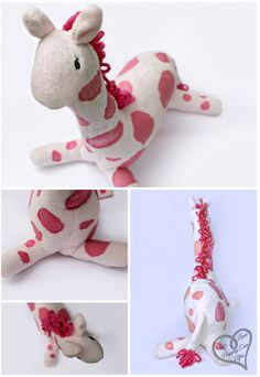 Hot Pink Giraffe Tutorial & Pattern ... great way to use fabric scraps or repurpose old clothes.