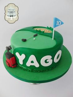 Golf cake The Effective Pictures We Offer You About mens Golf Cake A quality picture c Golf Cake Pops, Golf Ball Cake, Golf Themed Cakes, Golf Cakes, Celebration Cakes, Birthday Celebration, Tasty Chocolate Cake, Cakes For Women, Cake Board