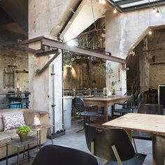 """The pared down and affordable menu – just four mains courses are being offered along a """"people's kitchen"""" line – continues the theme of simplicity and give diners plenty of time to enjoy the interesting surroundings of salvaged plank tables and wicker chairs..."""