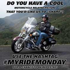 We're gonna change the way people feel about Monday and give them something motorcycle related to look forward to! #MyRideMonday