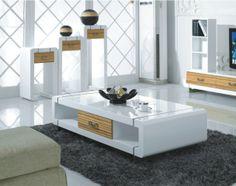 Bàn trà đẹp cho phòng khách. Thiết kế bàn trà tone màu trắng trang nhã. Soloha bảo hành bàn trà 2 năm http://solohaplaza.com/ban-tra