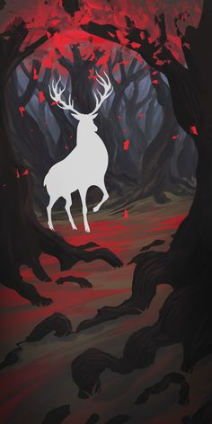 "Popatrz na mój projekt w @Behance: """"White deer"""" https://www.behance.net/gallery/57914721/White-deer"