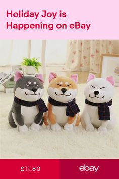 Japanese Dog Doll Toy Akita Dog With Scarf Doge Plush Cute Cosplay Kids Gift Toy Puppies, Dogs And Puppies, Plush Dolls, Doll Toys, Cute Doge, Japanese Dogs, Akita Dog, Kawaii Gifts, Cute Cosplay