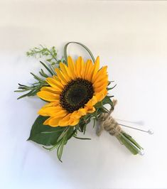 Festival theme wedding sunflower buttonhole twine - coral sunset peony, vuvuzela rose, sunflower, dahlia, delphinium & sweetpea - created by Willow House Flowers Aylesbury Wedding Florist Sunflower Corsage, Sunflower Boutonniere, Sunflower Bouquets, Sunflower Bridesmaid Bouquet, Sunflower Weddings, Wedding Bouquets With Sunflowers, Sunflower Wedding Flowers, Yellow Wedding, Rose Wedding