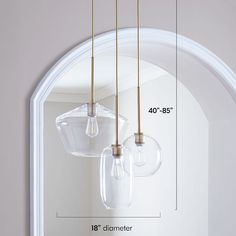 Sculptural Glass Round Mixed Chandelier, S Globe,-m. by West Elm 3 Light Chandelier, Glass Chandelier, Modern Chandelier, Stairwell Chandelier, Bubble Chandelier, Iron Chandeliers, Living Room Lighting, Home Lighting, Lighting Ideas