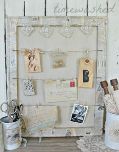 Wooden Frame With Wire to Clip on Pieces of Inspiration