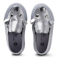 Little Marc Jacobs Silver Mouse Slip On Trainers | AlexandAlexa