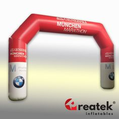 Europe's leading manufacturer of custom made inflatable advertising REATEK. Marathon, Logo Shapes, Bouncy Castle, Indoor Playground, Grand Opening, Design Your Own, Arch, Advertising, Europe