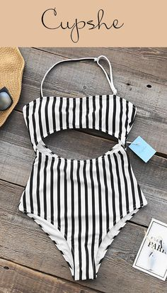 Feeling tired and craving for a leave? Be ready to head off to where beaches, warm waters, and outdoor adventures await! Complete your beach look with Cupshe Eternal Summer Stripe One-piece Swimsuit and a pair of sunglasses!