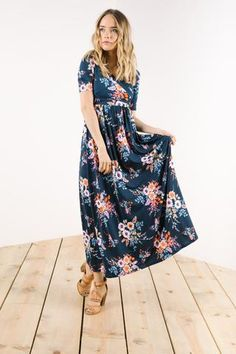 Floral print dresses are a timeless classic and this dress is no exception. Comfortable and free flowing, it is the perfect dress for spring. But don't wait to purchase this closet staple, supply goes