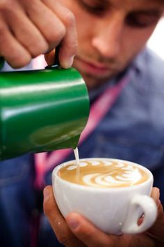 At the Latte Art Championship!