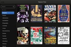 Popcorn Time, el servicio argentino para ver películas del que habla el mundo  Una vista de la interfaz de Popcorn time, disponible para PC, Mac y Linux
