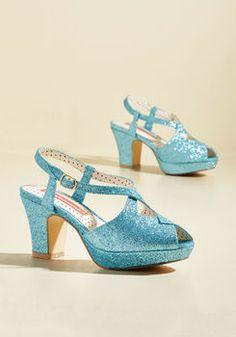 Shimmer on High Peep Toe Heel