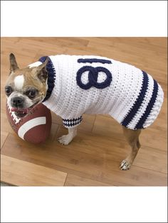 26d534ae0 Football Jersey Dog Sweater   crochet pattern Oh I love this would do it in  Giants