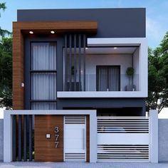 Modern Small House Design, Modern Exterior House Designs, Minimalist House Design, Exterior Design, Modern House Facades, Facade Design, Modern Home Exteriors, Small Modern Houses, Latest House Designs