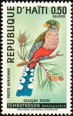 Hispaniolan Trogon stamps - mainly images - gallery format